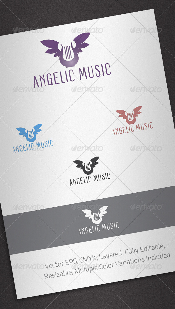 Angelic Music Logo Template - Objects Logo Templates