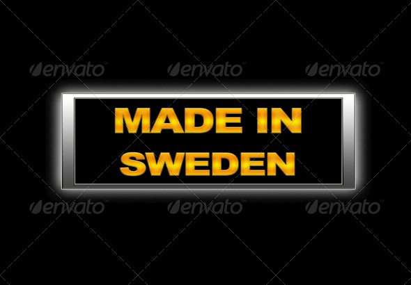 Made in Sweden. - Stock Photo - Images