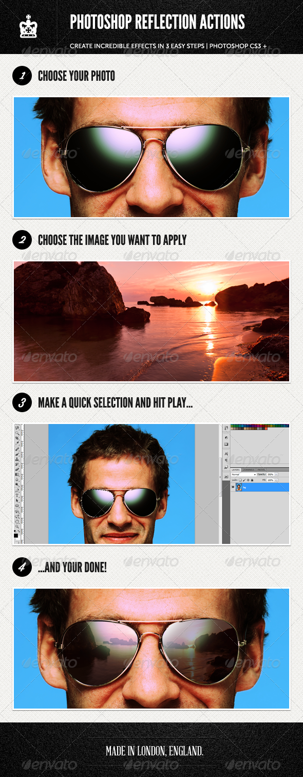 GraphicRiver Photoshop Reflection Actions 2536311