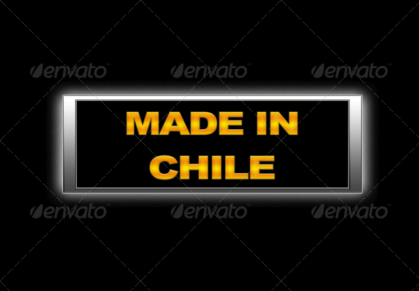 Made in Chile. - Stock Photo - Images