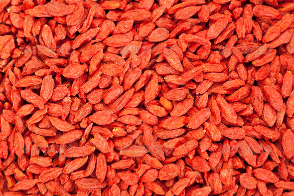 dried Tibetan goji berries - Stock Photo - Images