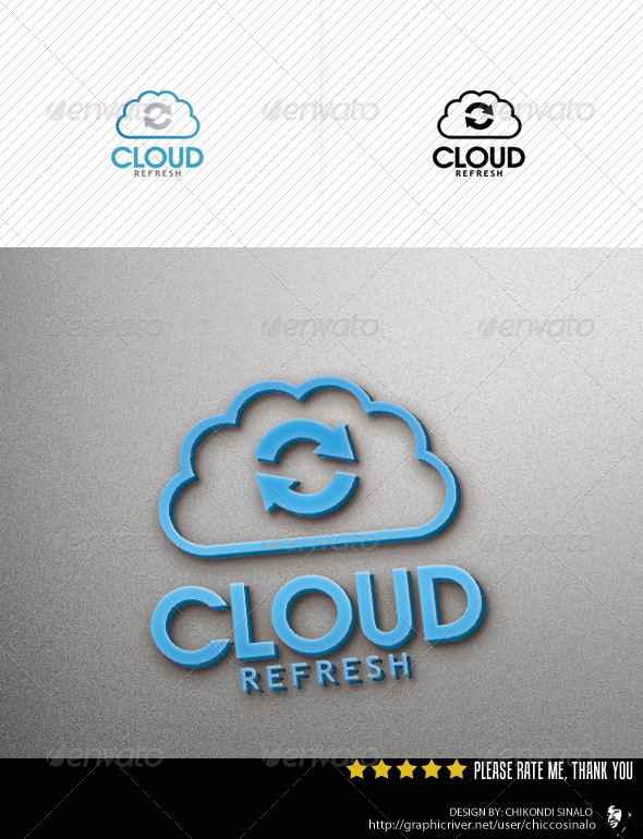 Cloud Refresh Logo Template - Abstract Logo Templates