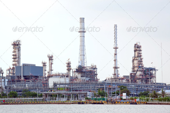 Oil refinery plant - Stock Photo - Images