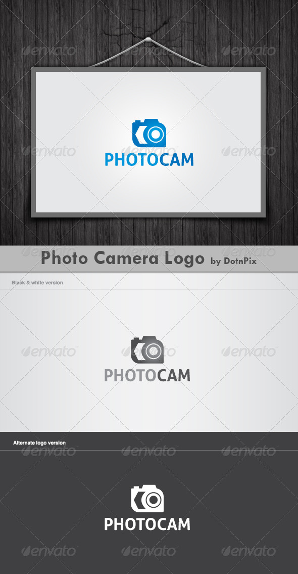 Photo Camera Logo - Vector Abstract
