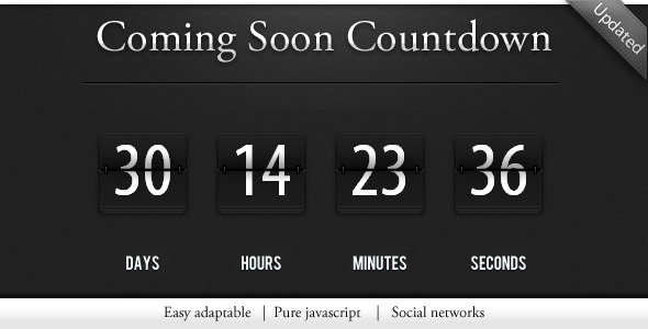 Countdown under construction page