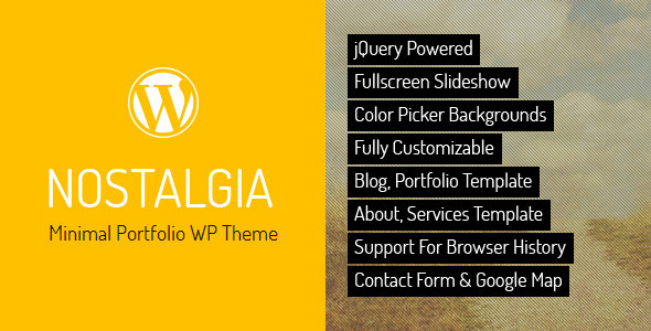 nostalgia responsive portfolio wordpress theme by quanticalabs themeforest. Black Bedroom Furniture Sets. Home Design Ideas