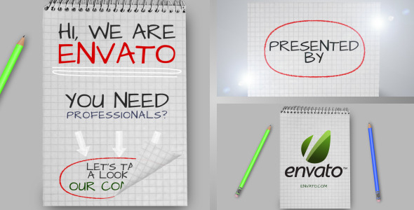 After Effects Project - VideoHive Notes Promotion& Bonus Intro 2515077