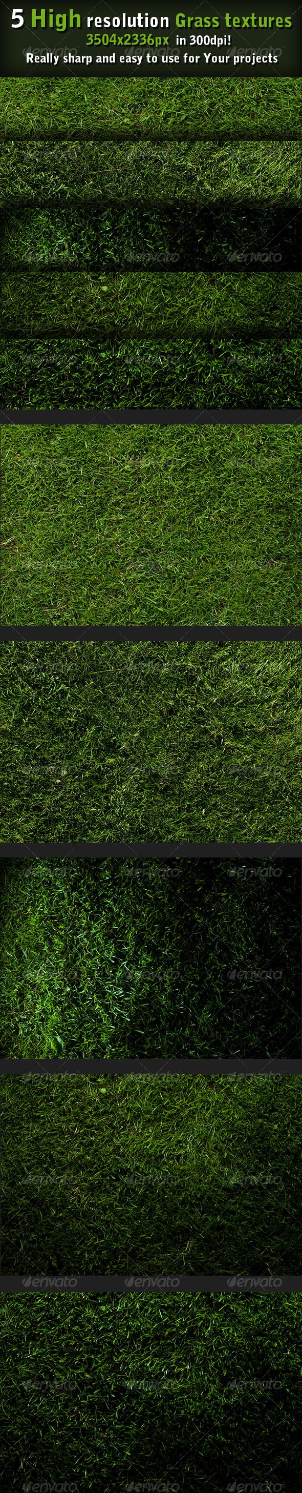GraphicRiver 5 Grass textures high resolution 92639
