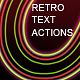 Retro Style Text Actions - GraphicRiver Item for Sale