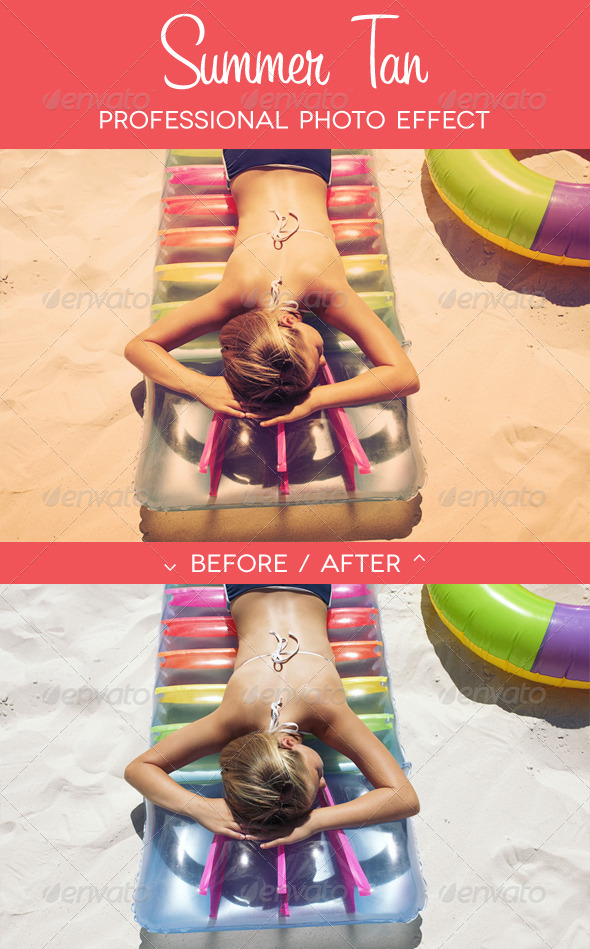 Summer Tan - Premium Photo Effect - Photo Effects Actions