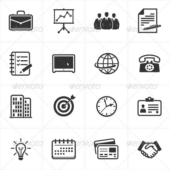 GraphicRiver Business and Office Icons 2535249