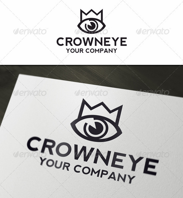 Crown Eye - Symbols Logo Templates