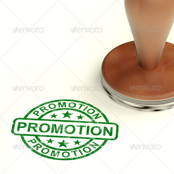 Promotion Stamp Shows Sale And Reduction - Stock Photo - Images