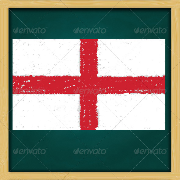 hand drawing St.George grunge flag artwork on high resolution gr - Stock Photo - Images
