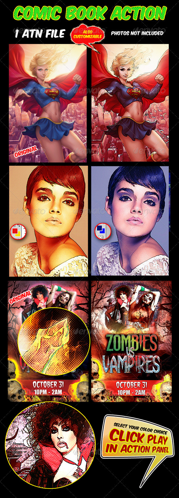 Comic Book Action - Photo Effects Actions