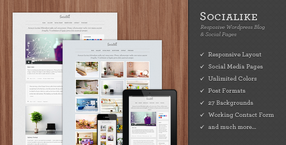 Socialike Responsive WordPress Blog &amp; Social Pages