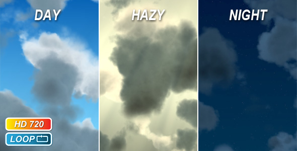 gloomy clouds VideoHive Motion Graphic  Backgrounds  Sky Clouds 74230