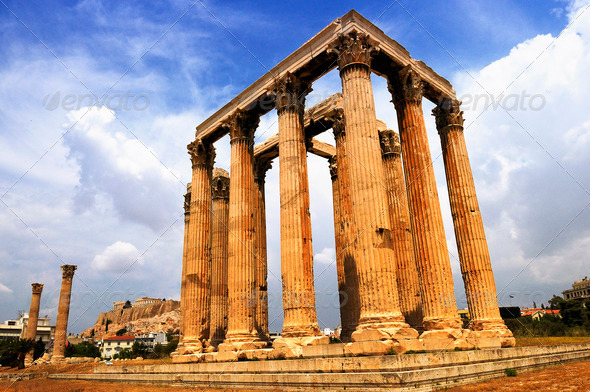 Temple of the Olympian Zeus - Stock Photo - Images