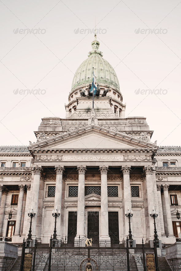 Building of Congress  in Buenos Aires, Argentina - Stock Photo - Images