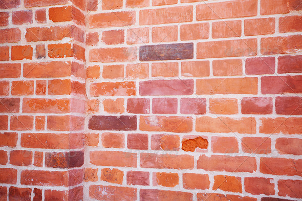 background of red brick wall - Stock Photo - Images