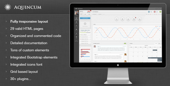 Aquincum - Premium Responsive Admin Template - Admin Templates Site Templates
