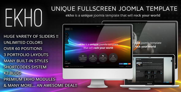 EKHO Unique Joomla Template - Portfolio Creative