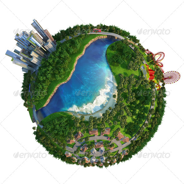 concept globe for home, work and leisure time - Stock Photo - Images