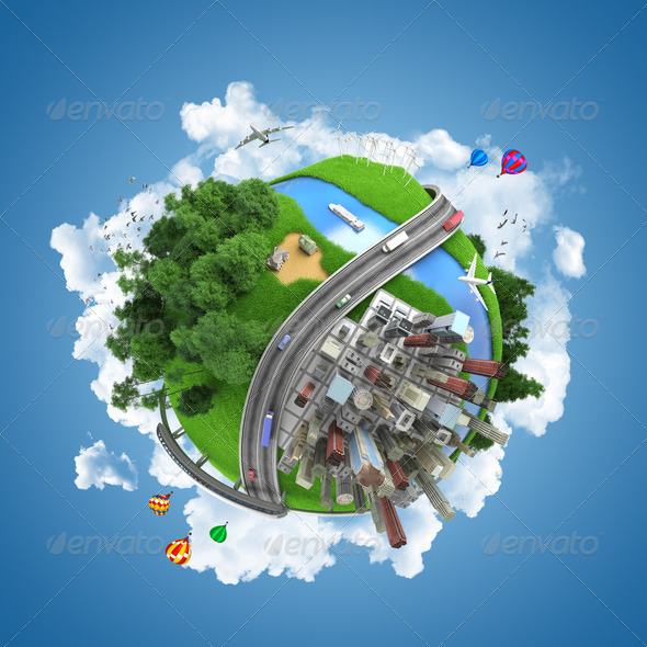 world globe concept - Stock Photo - Images