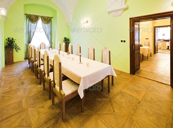 Interior of a restaurant - Stock Photo - Images