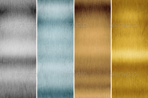 brushed metal - Stock Photo - Images
