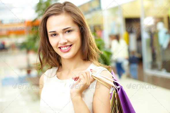 Happy shopper - Stock Photo - Images