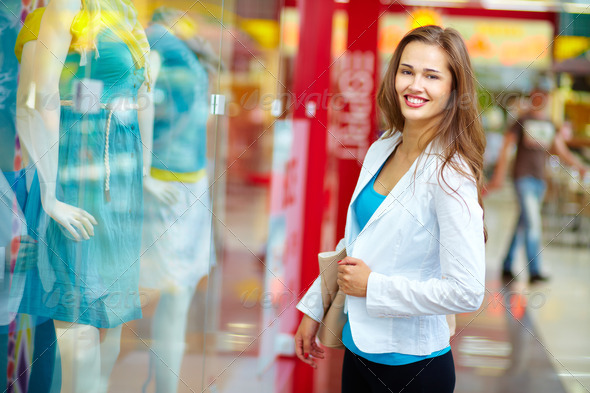 Happiness of shopaholic - Stock Photo - Images