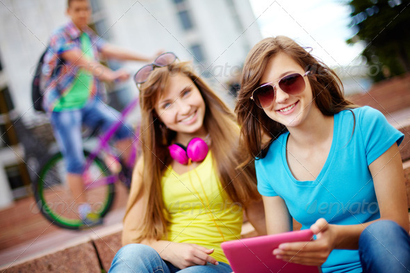 Life of teenagers - Stock Photo - Images