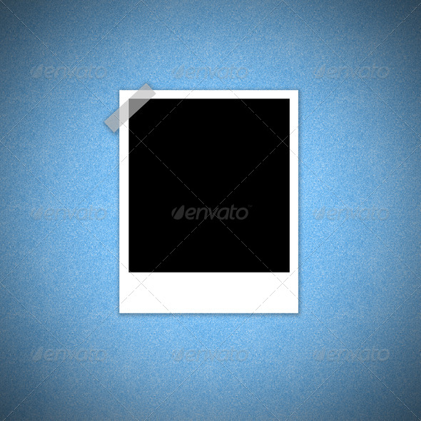 Instant film blue background concept - Stock Photo - Images
