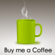 Donation Buy me a Coffee PayPal Button - ActiveDen Item for Sale