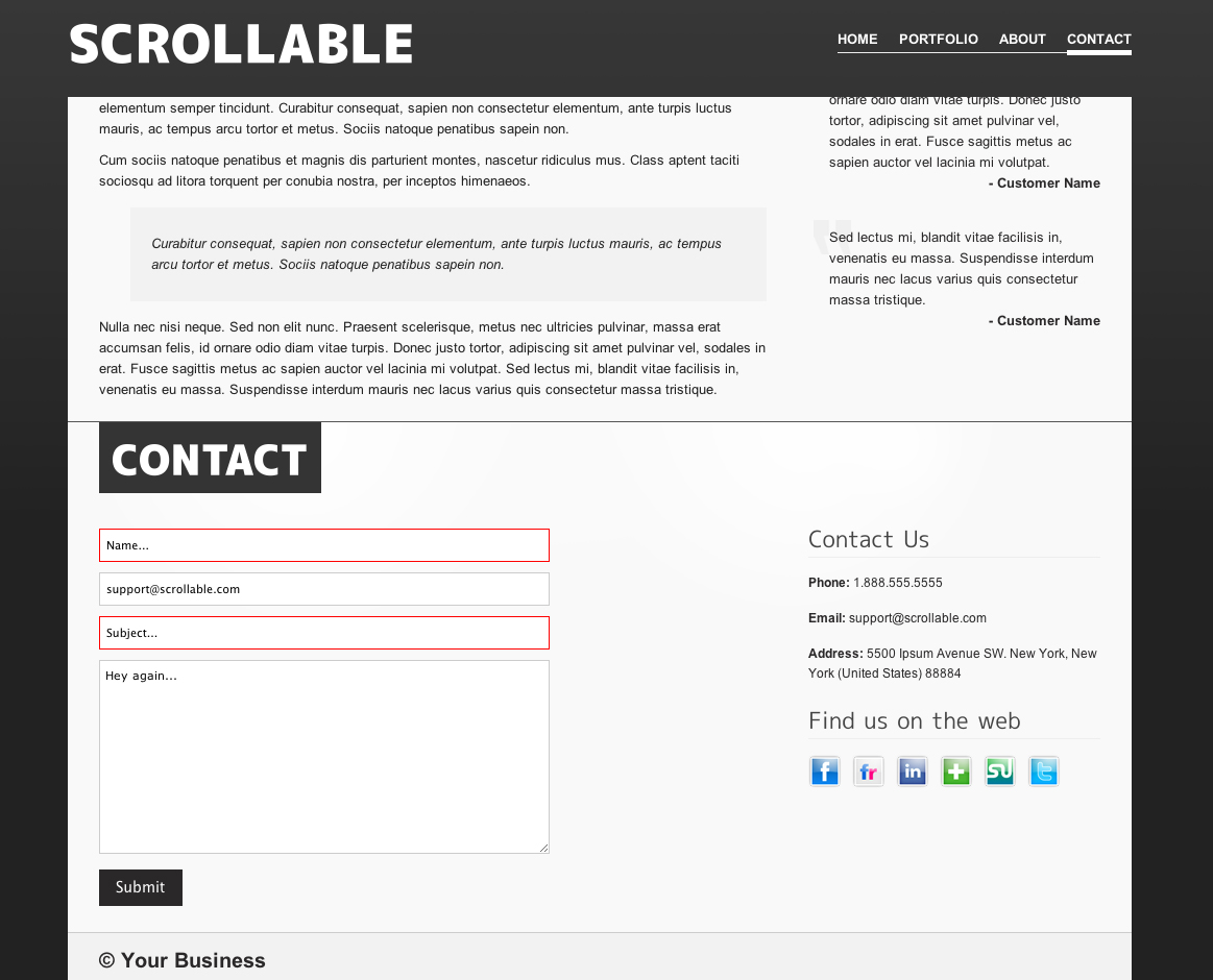 Scrollable Wordpress