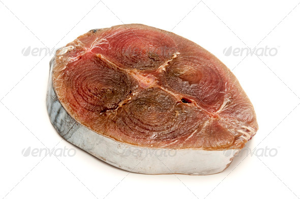Raw little tunny steak - Stock Photo - Images