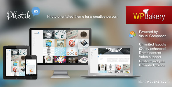 Photik  Responsive Portfolio &amp; Blog WordPress Theme