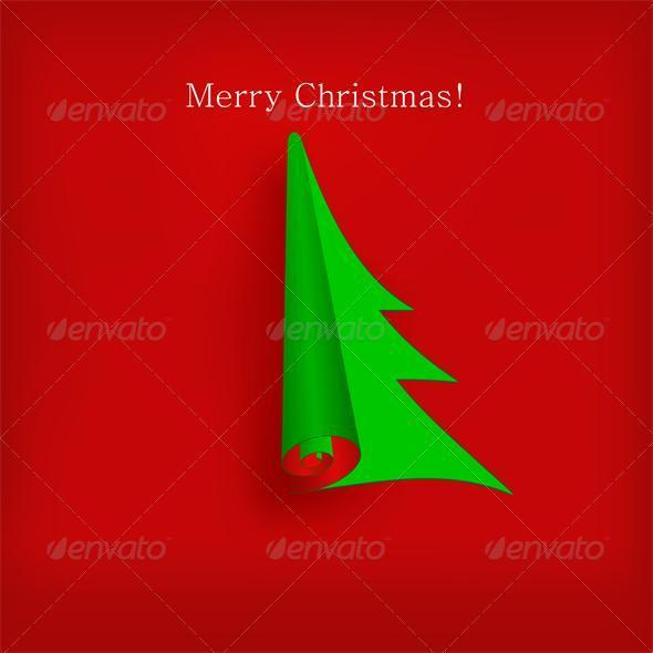Vector Christmas tree  - Christmas Seasons/Holidays