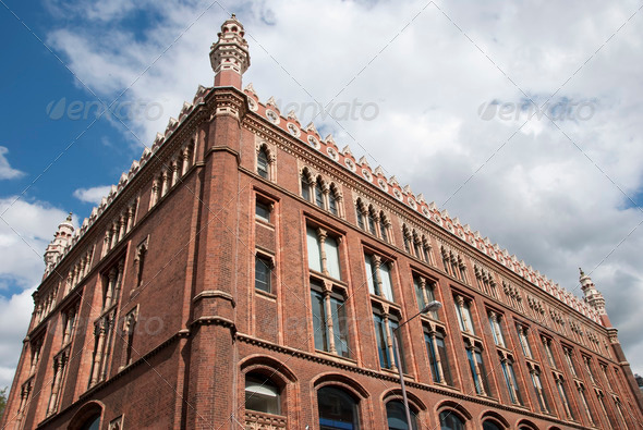 Old Red Brick Offices - Stock Photo - Images