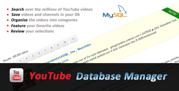 CodeCanyon YouTube Videos to Database Manager 2550513