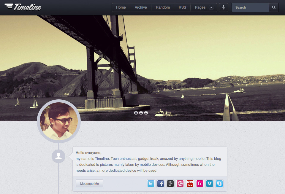 Timeline - Premium Tumblr Theme - Homepage Preview