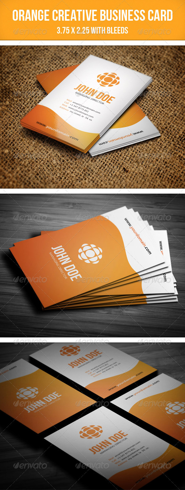 GraphicRiver Orange Creative Business Card 2551899