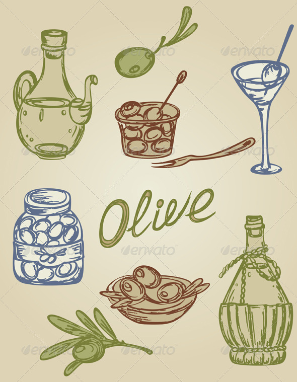 GraphicRiver Retro Olive Icons 2552207