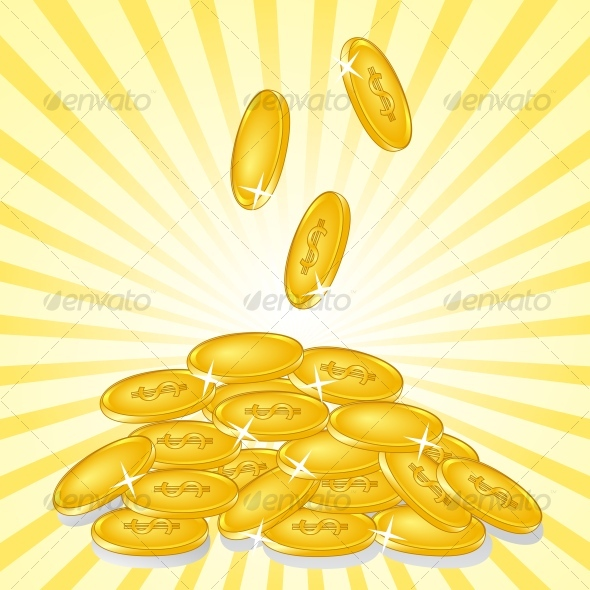 GraphicRiver golden coins 93047