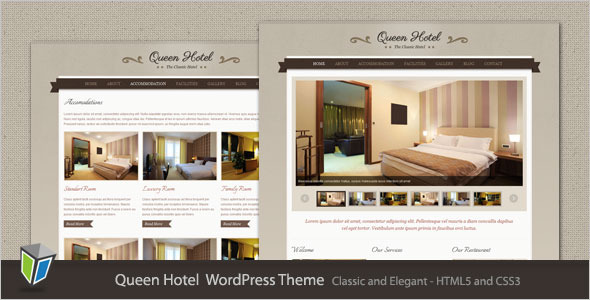 ThemeForest Queen Hotel Classic and Elegant WordPress Theme 2554152
