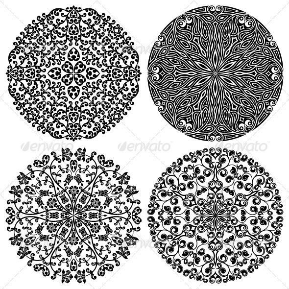 Floral patterns set - Patterns Decorative