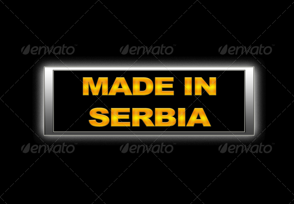 Made in Serbia. - Stock Photo - Images