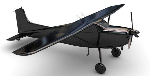 Air Craft 3D Model Cessna 17 - 3DOcean Item for Sale