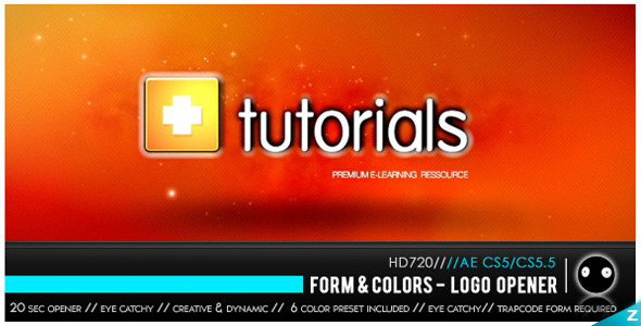 VideoHive Form & Colors Logo Opener 2539895